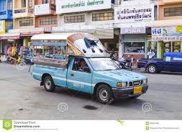 Blue Isuzu Pickup Truck Taxi Editorial Stock Photo - Image of thai ...