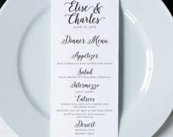 wedding menu cards etsy Wedding Reception Menu Cards wedding menus, printed dinner menus, wedding menu cards, wedding reception menu, wedding wedding reception menu card template