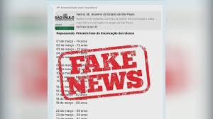 Governo de SP alerta para cronogramas falsos de vacinação
