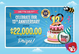 Cash Raffles Bingo Billy Celebrates 13th Birthday With 22k In Raffles 4th Of