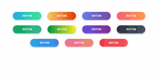 Button Design Gradient Buttons With Glint On Hover Web Design