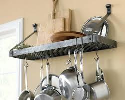wall mounted pot rack wall mounted deep bookshelf rack hammered steel wall mounted pot rack nz