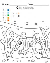 Explore 623989 free printable coloring pages for your kids and adults. Under The Sea Color By Numbers Coloring Pages