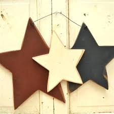 rustic star wall decor black