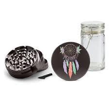 Dream Catcher Jar UV Printed Gunmetal Herb 100 Piece Grinder AluminumFree Jar Pretty 98