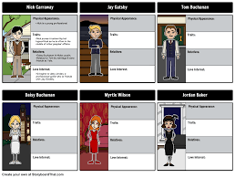 the great gatsby character storyboard storyboard