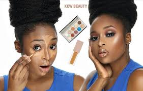 watch ronke raji s review on the kkw beauty concealer and kkw x mario palette style rave