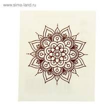 татуировка на тело орнамент в индийском стиле 1252251 купить