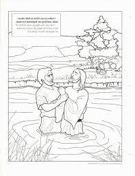 Jesus Being Baptized Coloring Page With Baptism Hk42 Printable