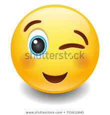 Wink Happy Expression Emoji Smiley Face Stock Vector Royalty Free