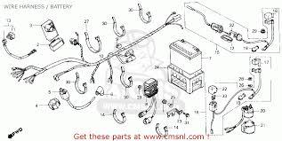 honda atc250sx 1987 h usa wire harness battery schematic wire harness battery schematic
