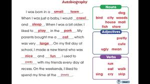 cc how to write a book report autobiography mini