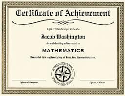 Achievement Certificates Certificate Templates