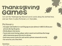 Thanksgiving Inspired Games Worksheets Printables