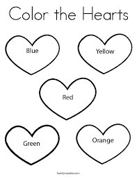 Heart Coloring Worksheet Worksheets for all | Download and Share ...