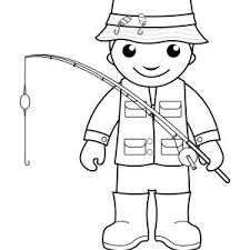 Small Picture Fisherman Fishing in the River Coloring Page Coloring Sky
