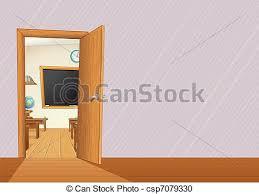 school door clipart. Schoolroom School Door Clipart