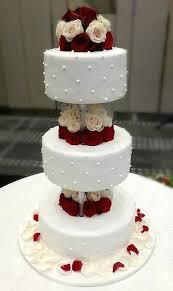 3 Tier Wedding Cakes With Pillars Simple 3 Tiers With Pillar