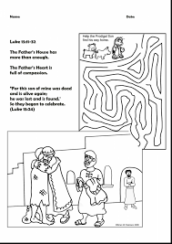 Brilliant Prodigal Son Activity Sheets With Prodigal Son Coloring