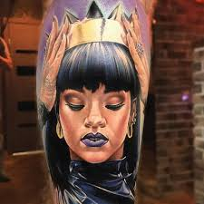 Rihanna Tattoo By Anjelika Kartasheva онлайн журнал о тату