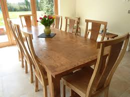 Image of: Large Pippy Oak Dining Table And Chairs Quercus Furniture Within  Large Dining Room