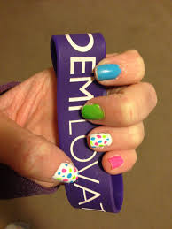 Neon Lights Nail Polish Neon Nails Inspired By Demi Lovatos Neon Lights Tour