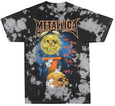 Metallica Pushhead Tick Toc T Shirt Tie Dye Metal Music Tee