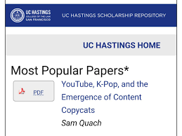Sam On Twitter My Paper On K Pop And Youtube Is Currently The Most