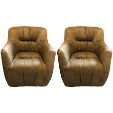leather tufted club chair pair of regency style leather tufted arm club chairs in putty color