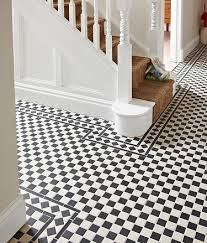 victorian black white corner tile