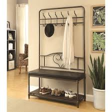 Standard Height For Coat Rack Interesting Coaster Coat Racks Hall Tree With Storage Bench Standard Furniture
