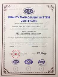 quality control shenzhen sewo science technology co  standard iso2001 iso2008