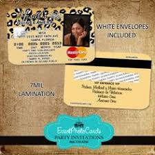 Credit Card Party Invitations 23 Best Credit Card Invitations Images Invitation Cards