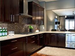 espresso color furniture. Espresso Kitchen Cabinets With White Quartz Tops And Stainless Steel Appliances Very Popular Combination To Color Furniture
