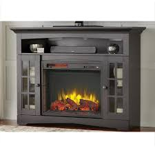 tv stand infrared electric fireplace in aged black