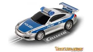 slot cars slot car track sets the new carrera set has the police chasing the laborghini huracan on a figure 8 track with overp