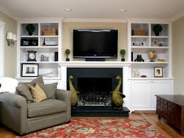 Living Room Built In Cabinets Fireplace Bookcase Ideas Zampco