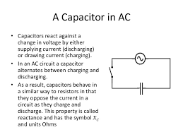 alternating current circuit. 4. a capacitor in ac alternating current circuit