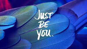 Just Be You Quote Feathers Blue 4K ...