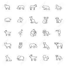 Animal Icon Animal Icons Vector Outline Icon Set