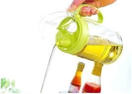 olive oil dispenser bottle no spill kitchen can seasoned glass bottles vinegar capped dark