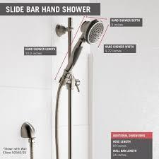 delta faucet 57021 cz slide bar hand shower champagne bronze