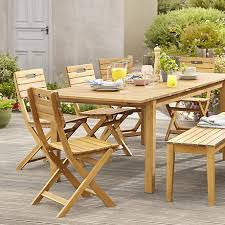 garden dining tables. Modren Dining Denia Range  Natural Wood Garden Furniture  Throughout Garden Dining Tables D