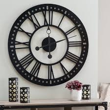 Small Picture Modern Large Black Wall Clock 127 Black Decorative Wall Clocks Cm