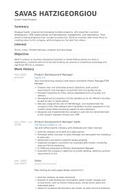 Product Development Manager Resume samples