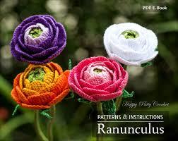 Crochet Decoration Patterns Crochet Ranunculus Pattern Crochet Flower Pattern For Wedding