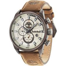 timberland 14816jlbn 07 mens henniker ii brown leather strap watch