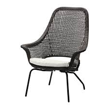 279AMMER– Armchair with pad IKEA Hand woven plastic rattan with