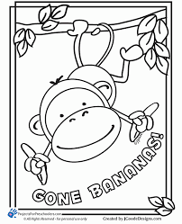 Top monkeys coloring pages for kids: Monkey Printable Coloring Pages Coloring Home