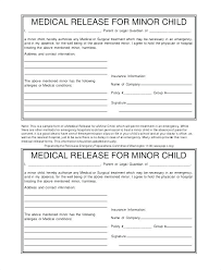 Release Of Ion Template Printable Medical Form Records Emergency Magnificent Printable Medical Release Form For Children